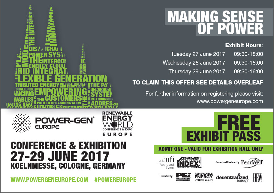 Powergen Europe 2017 Free pass